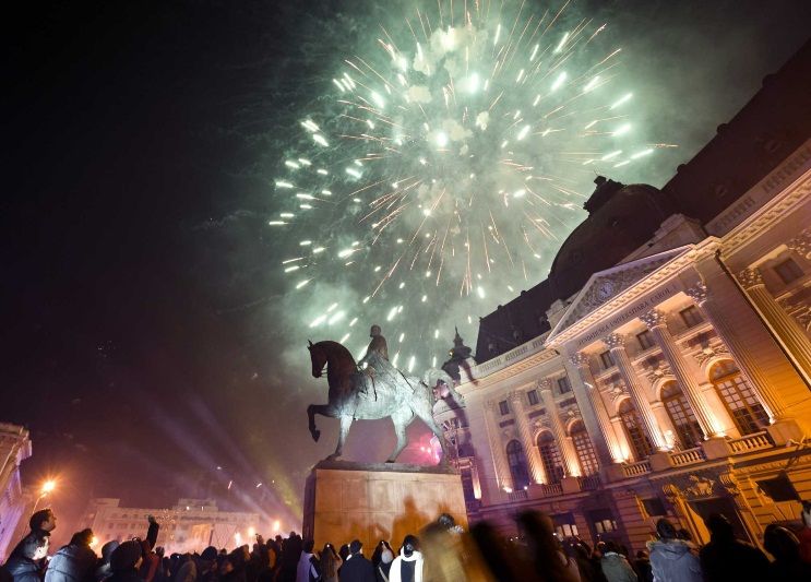 bucharest new year fireworks 2013