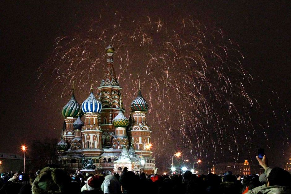 moscow new year fireworks 2013