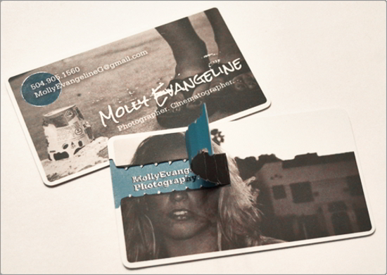 Molly Evangeline Photography Business Card Design
