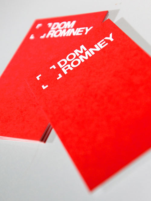 Red Business card design