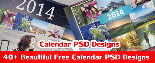 Beautiful Free Calendar PSD Designs