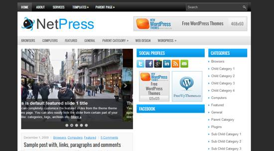 net press free wp theme