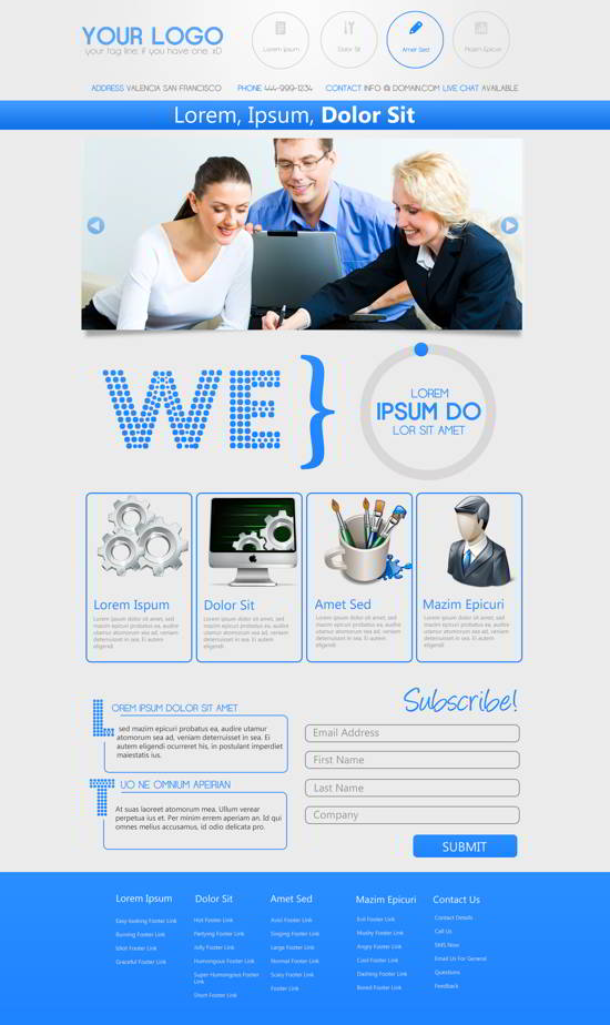 PSD Business Web Design