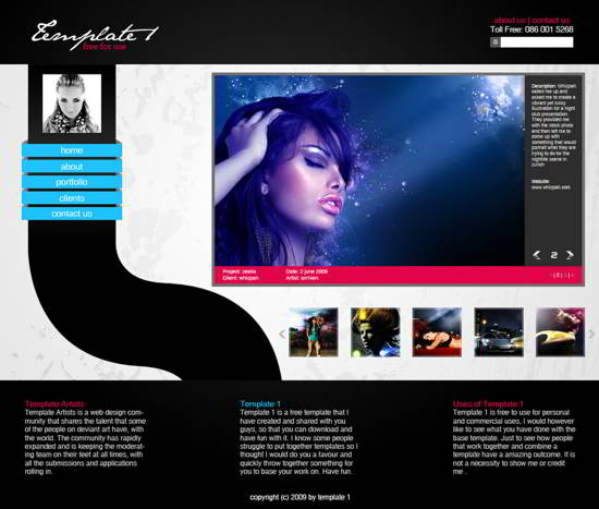 Music PSD template