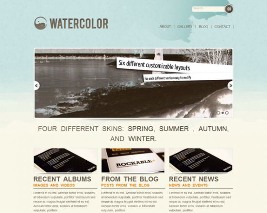 Watercolor HTML5 Web Template