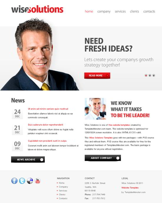 Wise Solutions Business Website