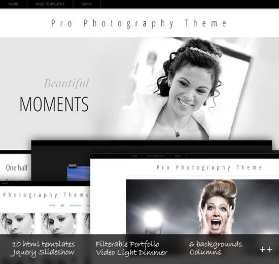 Free Css Template Pro Photography