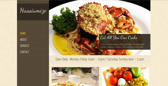 free wordpress cusine theme