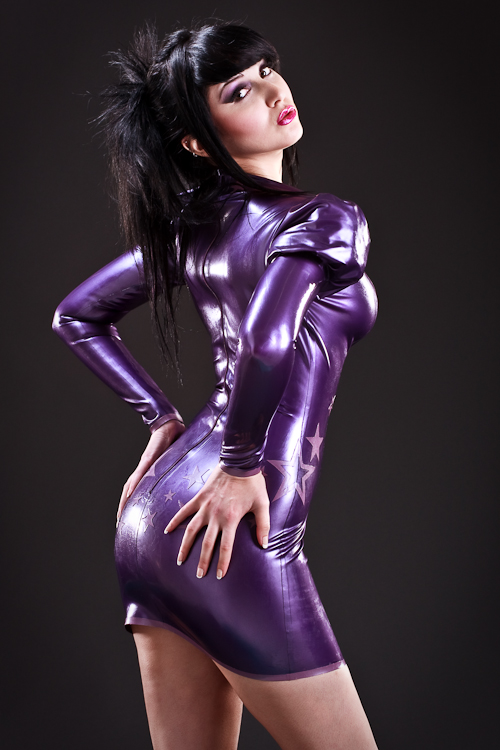 girls latex dresses photography