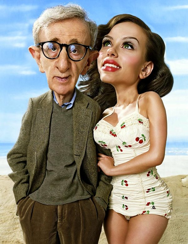 Woody Allen and Scarlett Johans