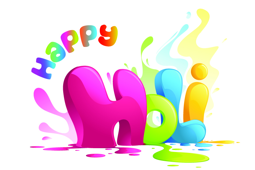 Happy Holi Vector Illustrations