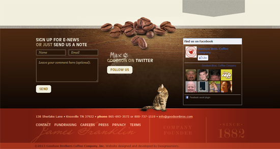 goodsonbros footer design