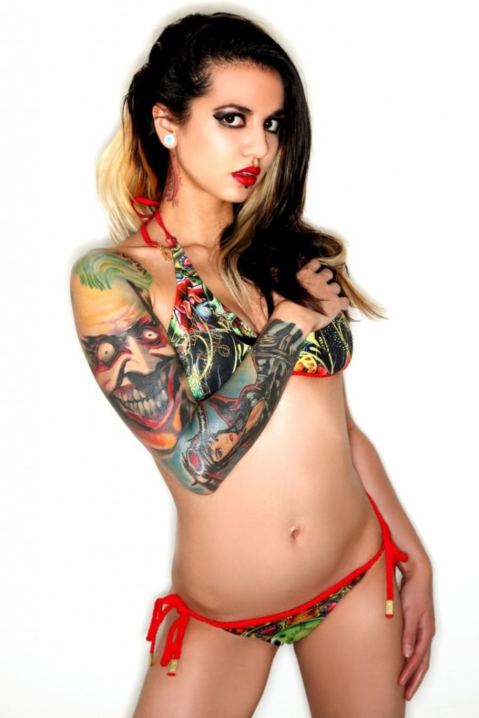 Bikini full body tattoo