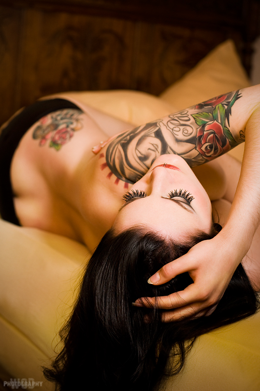 CELINA pin up model tattoos