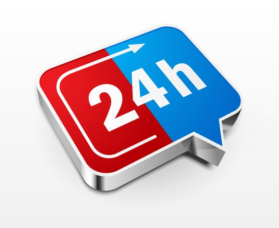 Create 24 Hours a Day Icon
