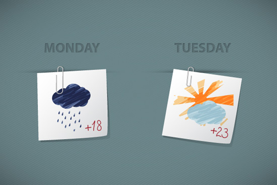 Create Sketchy Weather Icons
