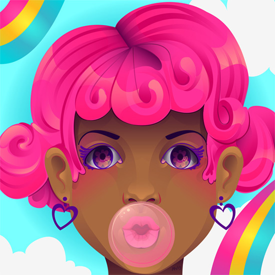 Create a Colorful Stylized Portrait