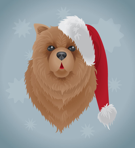 Create a Festive Dog Illustration