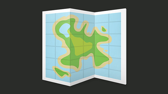 Create a Folded Island Map Icon