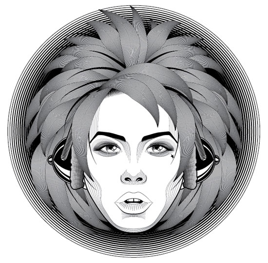 Create a Line Art Based Symmetrical Portrait