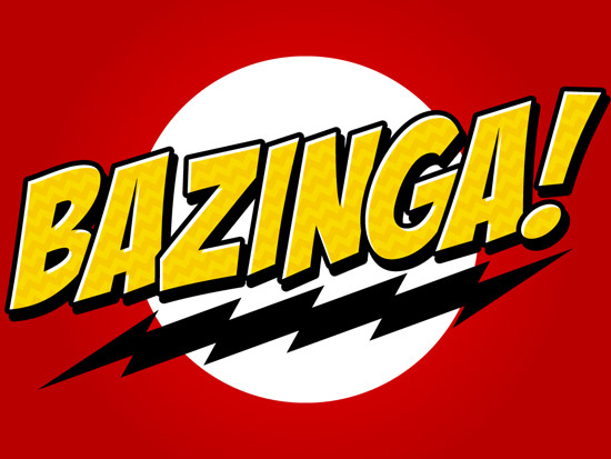Creating a Bazinga Text Treatment