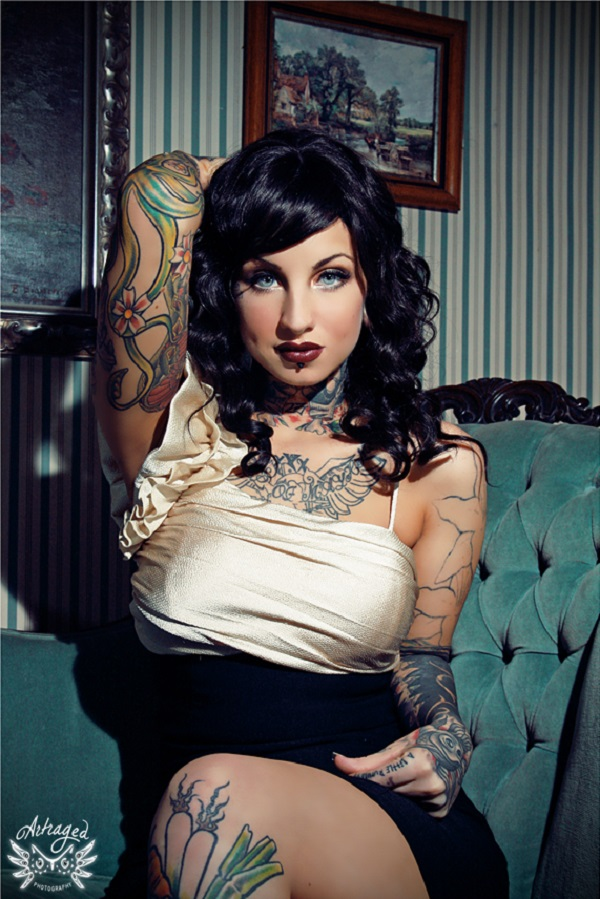 Elegant Linda - pin up model tattoos