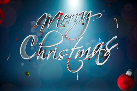 Festive Ornamental Christmas Text Effect