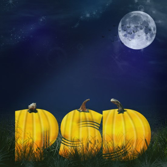 Halloween Pumpkin Patch Text Effect