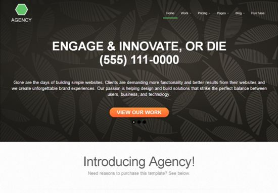 Html5 Template Agency