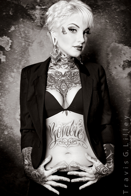 Little Linda pin up model tattoos