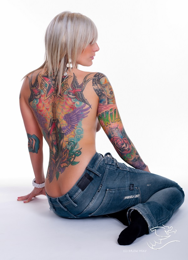 Nikki pin up model tattoos