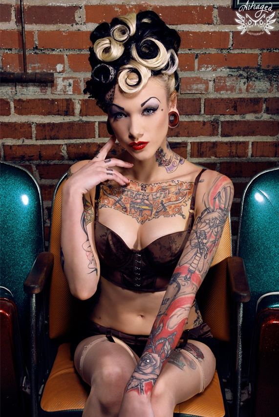 Tori Lane - pin up model tattoos