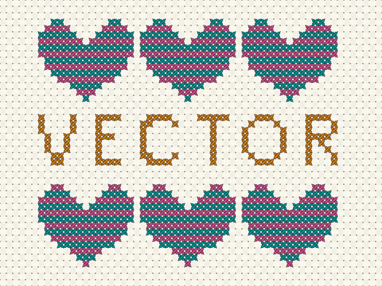 Vector Cross Stitch Effect in Adobe Illustrator