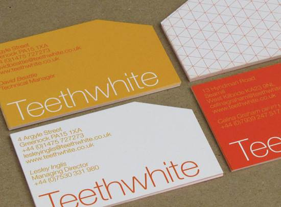 teeth white business card design