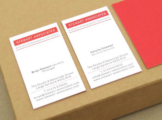 stewart associates business card design