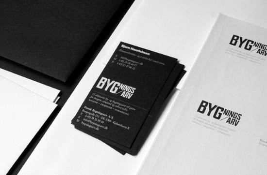 bygningsarv business card design