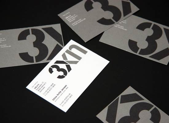 3xn business card design