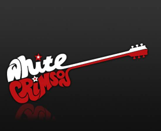 white crimson logo design