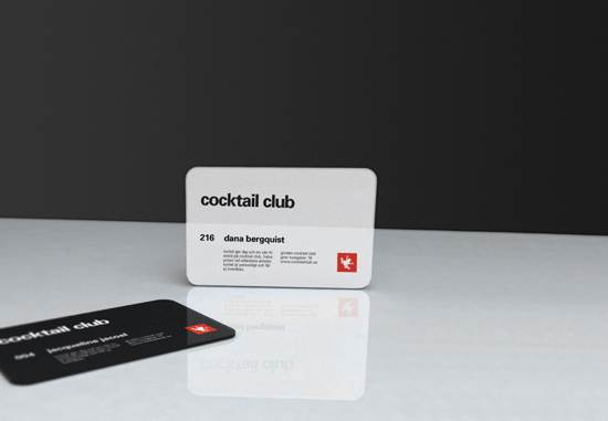 gordan cocktail club business card design