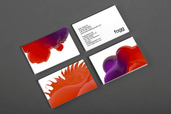 fogg business card design