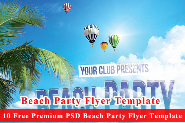 10 Free Premium PSD Beach Party Flyer Template
