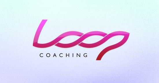 loop coaching logo design