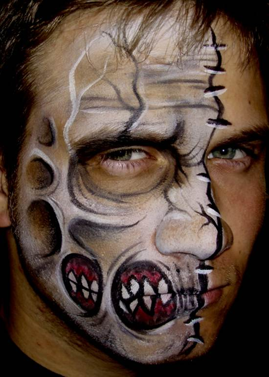 falling apart face painting