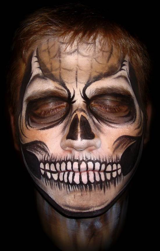 halloween creepy face paintings