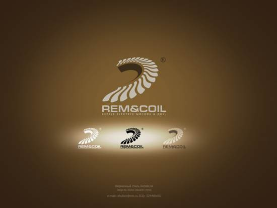 rem and coil logo design
