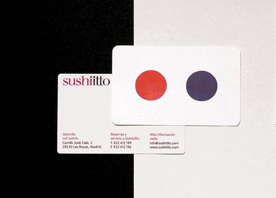 sushi ltto business card design