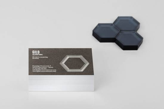 glid international business card design