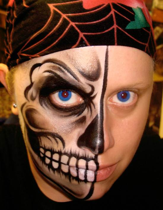 heres looking at you face painting