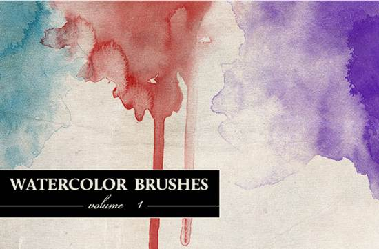 free watercolor brushes vol 1