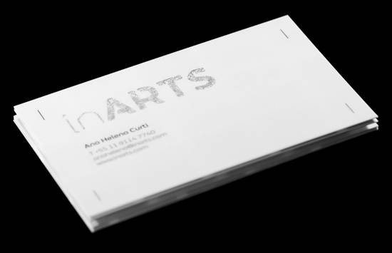 in arts business card design